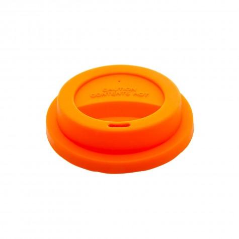 Coperchio arancione per bicchieri