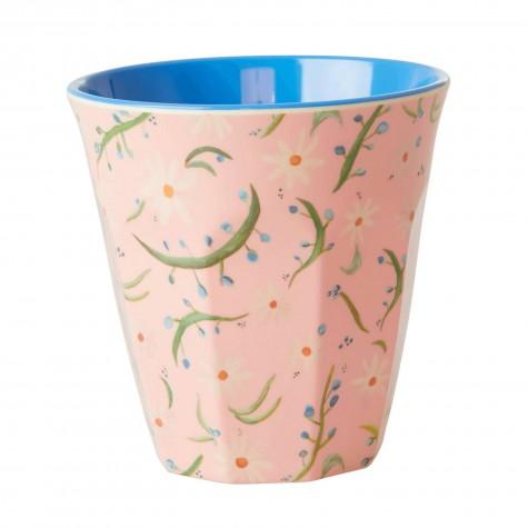 Bicchiere in melamina fantasia di margherite