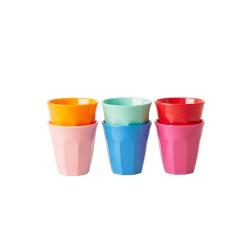 Set di 6 bicchieri da espresso colorati