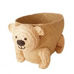 Contenitore in rafia a forma di orsetto