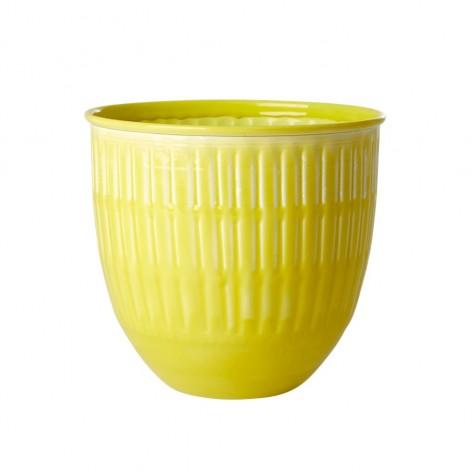 Vaso portafiori giallo brillante in...