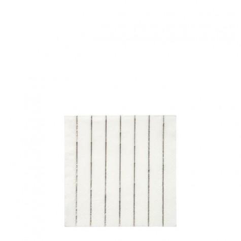 Tovagliolini di carta a righe argento