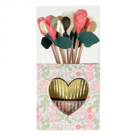 Pirottini e decorazioni cupcake di San Valentino
