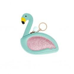 Portamonete Flamingo verde...