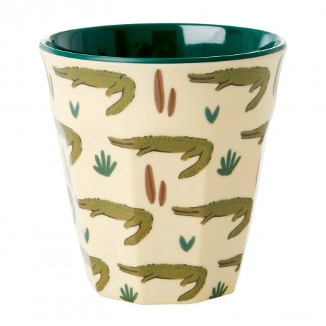 Bicchiere in melamina fantasia cactus e coccodrilli