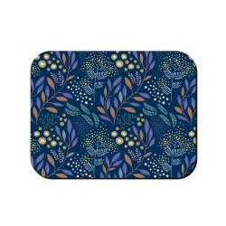 Tovaglietta americana blu fantasia floreale