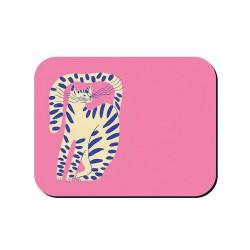 Tovaglietta americana rosa fantasia gattone