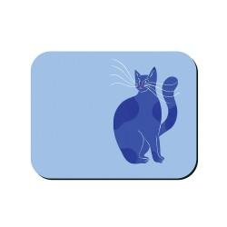 Tovaglietta americana azzurra fantasia gattone