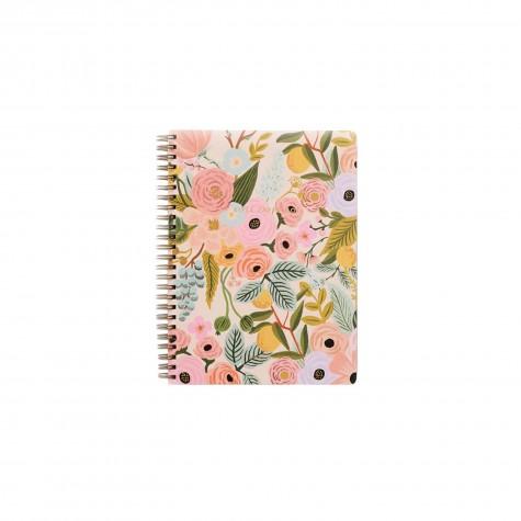 Quaderno floreale a righe con spirale