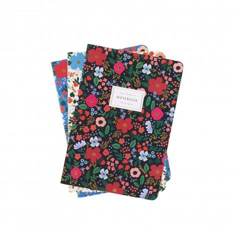 Set di 3 quaderni fantasia floreale