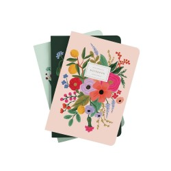 Set di quaderni a righe fantasia floreale