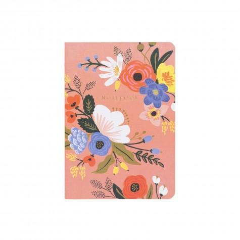 Quaderno rosa fantasia floreale