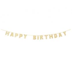 Ghirlanda dorata Happy Birthdy