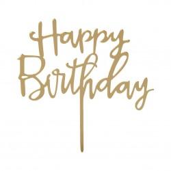 Candelina Happy Birthday dorata deluxe