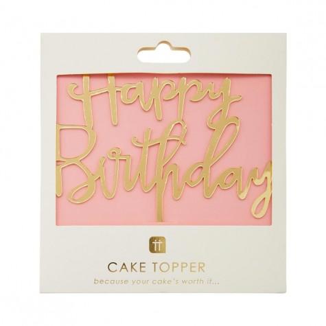 Candelina Happy Birthday dorata