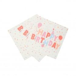 Tovaglioli di carta ecologica Happy Birthday
