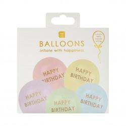 Palloncini pastello Happy Birthday