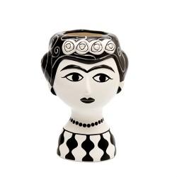 Vaso in ceramica Marisol bianco e nero