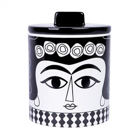 Vaso in ceramica con coperchio Marisol