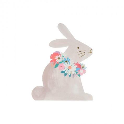 Tovagliolini di carta a forma di coniglietto