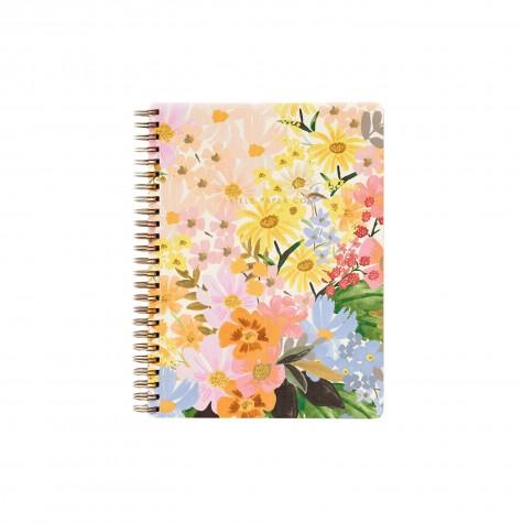 Quaderno a righe con spirale e copertina floreale
