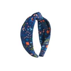 Cerchietto per capelli blu fantasia floreale