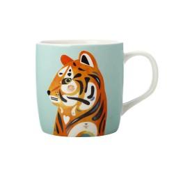 Tazza mug azzurra fantasia tigre