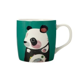 Tazza mug verde fantasia panda