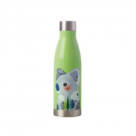 Borraccia in acciaio inox verde fantasia koala