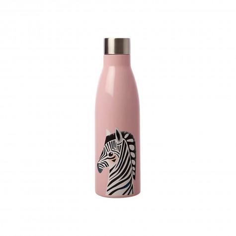 Borraccia in acciaio inox rosa fantasia zebra