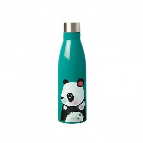Borraccia in acciaio inox verde smeraldo fantasia panda
