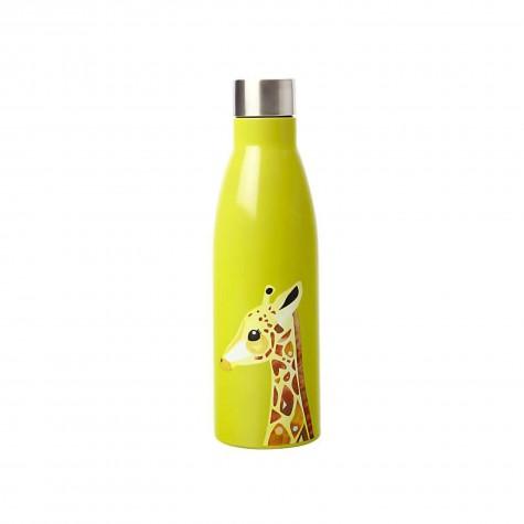 Borraccia in acciaio inox verde fantasia giraffa