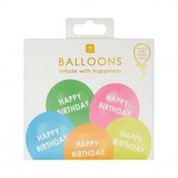 Palloncini arcobaleno Happy Birthday