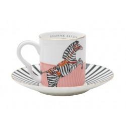 Servizio da caffè in porcellana fantasia zebra