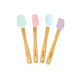 Set di spatoline da cucina in colori assortiti fantasia a pois