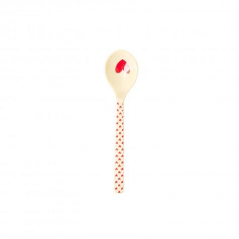 Cucchiaino da the in melamina fantasia cuoricini rossi