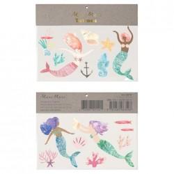 Tatuaggi temporanei delle Sirene