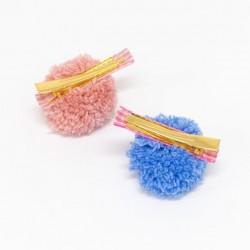 Fermagli per capelli con pompon