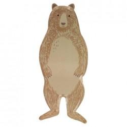 Piatti di carta a forma di orso