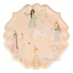 Piatti di carta fantasia Principesse