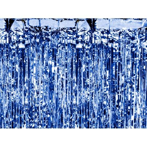 Sipario blu luccicante per feste
