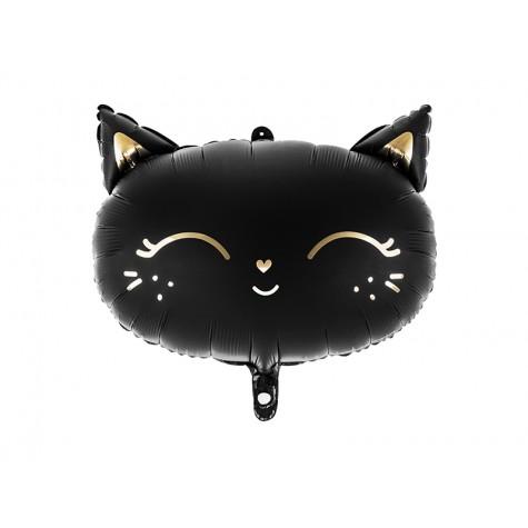 Palloncino a forma di gattino nero