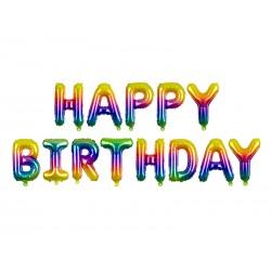 Palloncini multicolor Happy Birthday