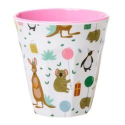 Bicchiere bimba fantasia animali in festa