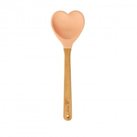 Cucchiaione da cucina cuore arancione
