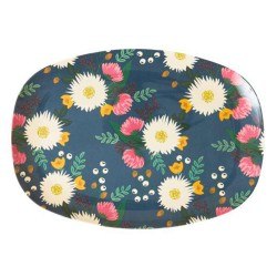 Piatto ovale fantasia bouquet floreale