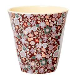Bicchiere in melamina fantasia fiorellini autunnali