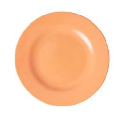 Piatto frutta in melamina arancio pastello