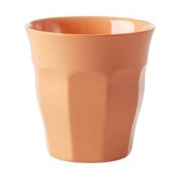 Bicchiere in melamina arancio pastello