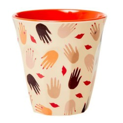Bicchiere in melamina fantasia baci e mani